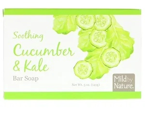 Mild By Nature Soothing Bar Soap, Cucumber & Kale