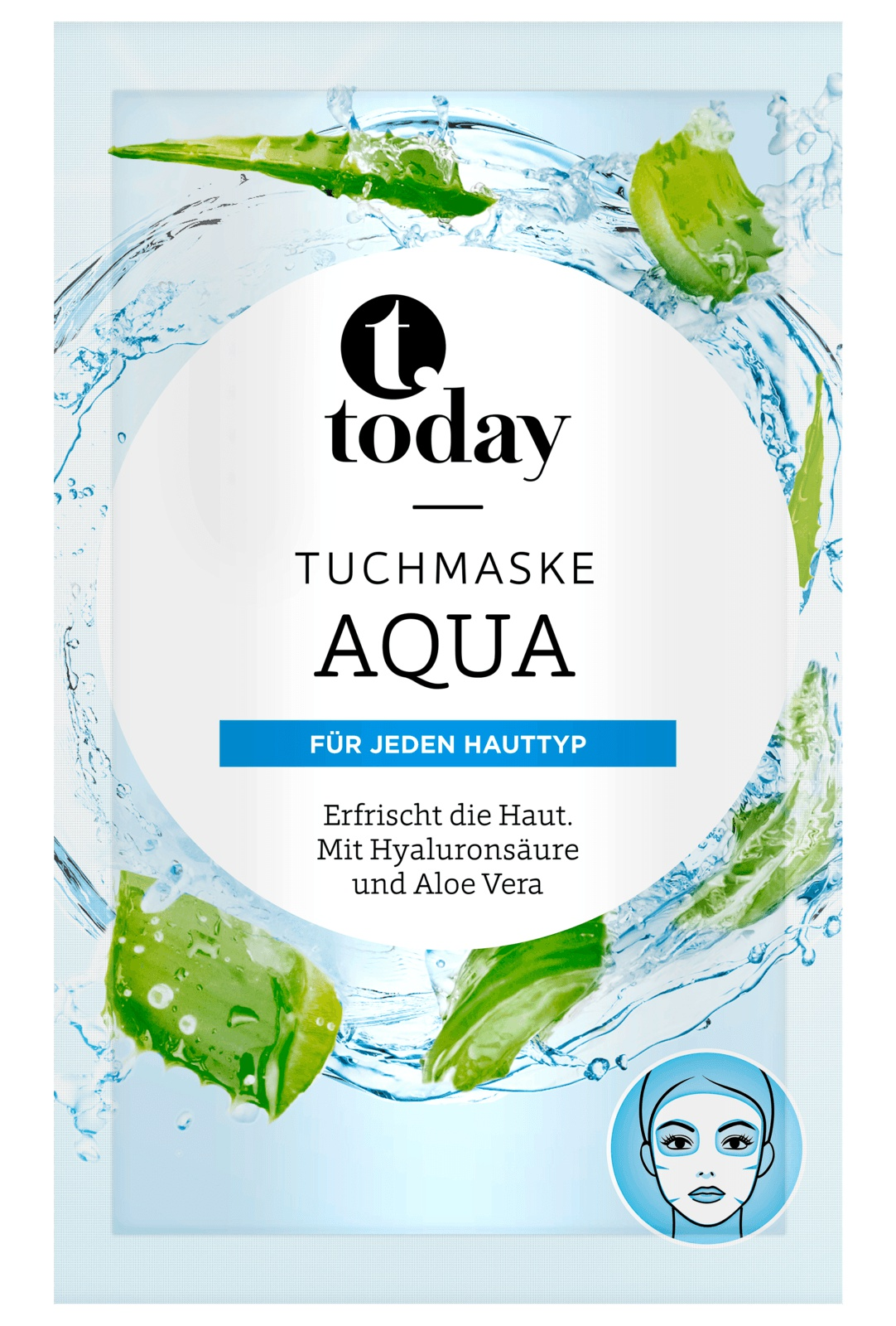 today Aqua Sheet Mask With Hyaluronic Acid and Aloe Vera