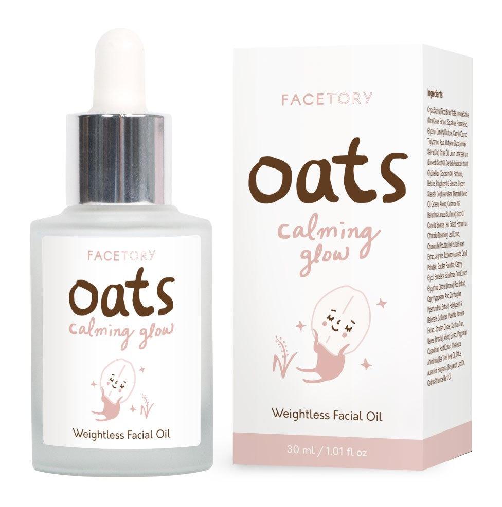Facetory Oats Calming Glow Weightless Facial Oil