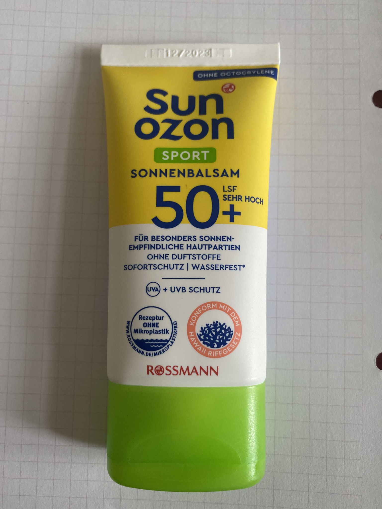 Rossmann Sun Ozon Sport Sonnenbalsam 50+ Lsd Sehr Hoch / Ohne Octocrylene