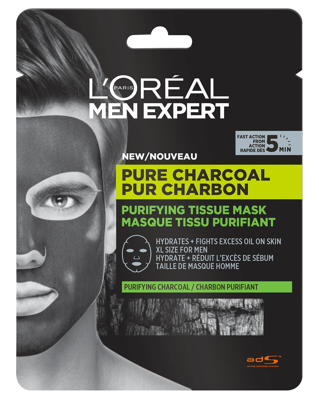 L'Oreal Men Expert Pure Charcoal Purifying Tissue Mask