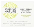 (Sainsburys) Source of Nature Source Of Nature Day Cream White Tea & Liquorice
