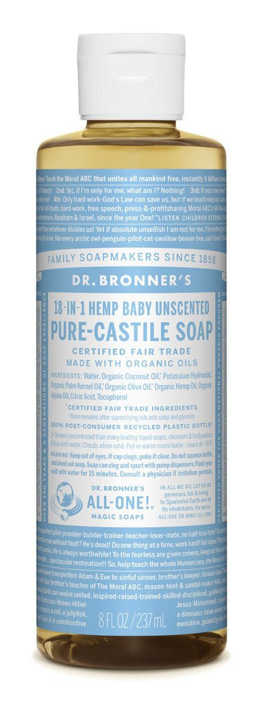 Dr. Bronner's Pure-Castile Liquid Soap- Baby Unscented