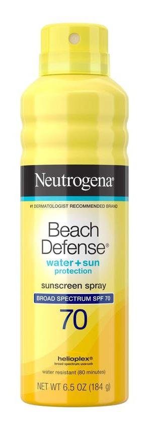 Neutrogena Beach Defense® Water + Sun Protection Sunscreen Spray Broad Spectrum SPF 70