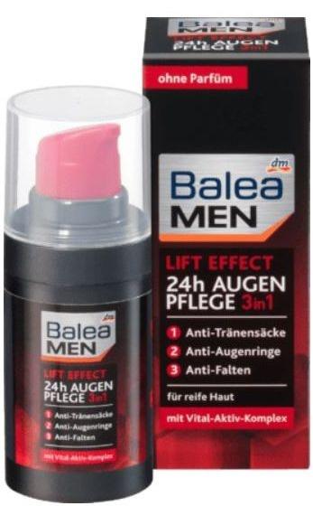 Balea MEN  Lift Effect 24H Augen Pflege 3in1