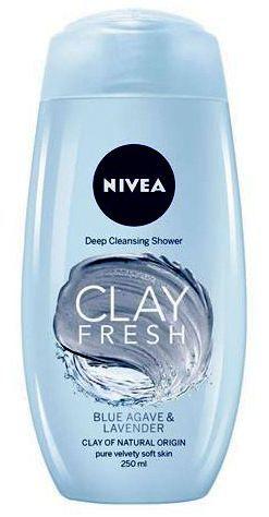 Nivea Clay Fresh Blue Agave & Lavender Shower Cream