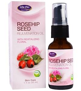Life-flo Rosehip Seed Rejuvenation Oil With Revitalizing Floral