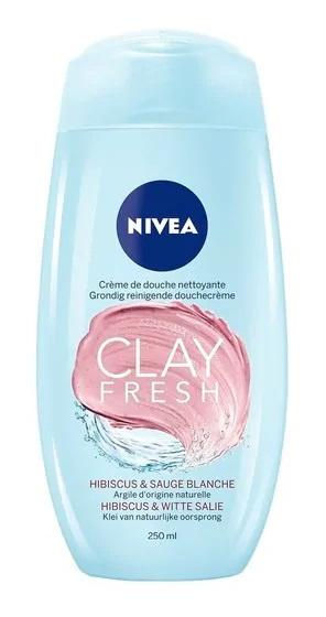 Nivea Clay Fresh Hibiscus & White Salie Shower Cream