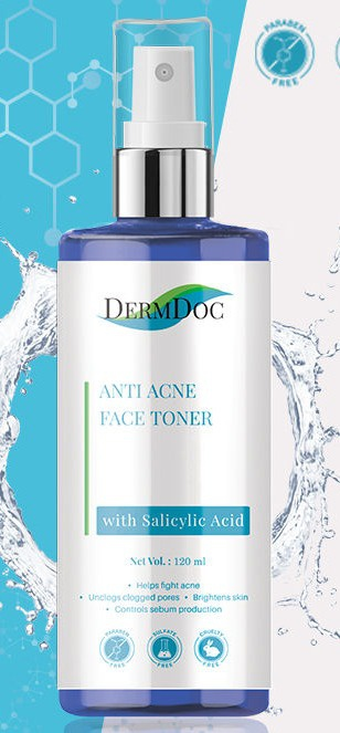 DermDoc Anti-acne Face Toner With Salicylic Acid