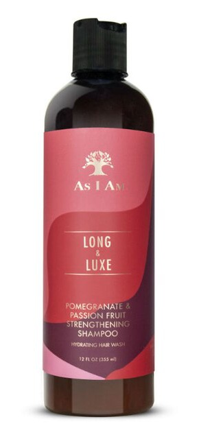 As I Am Long & Luxe Pomegranate & Passion Fruit Strengthening Shampoo Hydrating Hair Wash (12 Oz.)