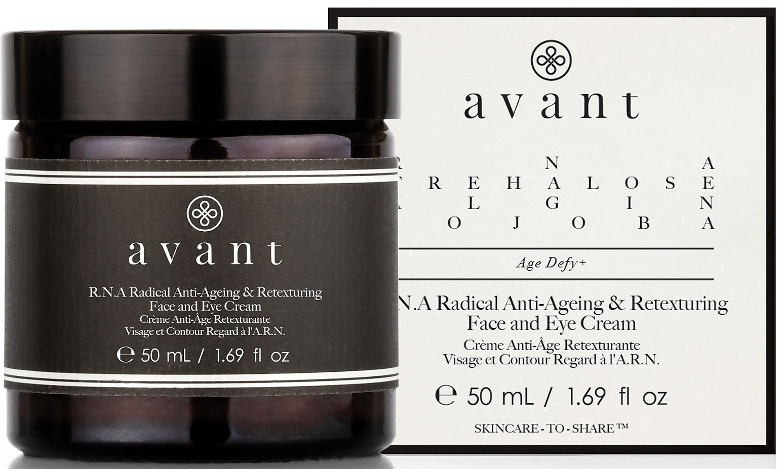 AVANT SKINCARE R.N.A. Ant-Aging Retexturing Face And Eye Cream