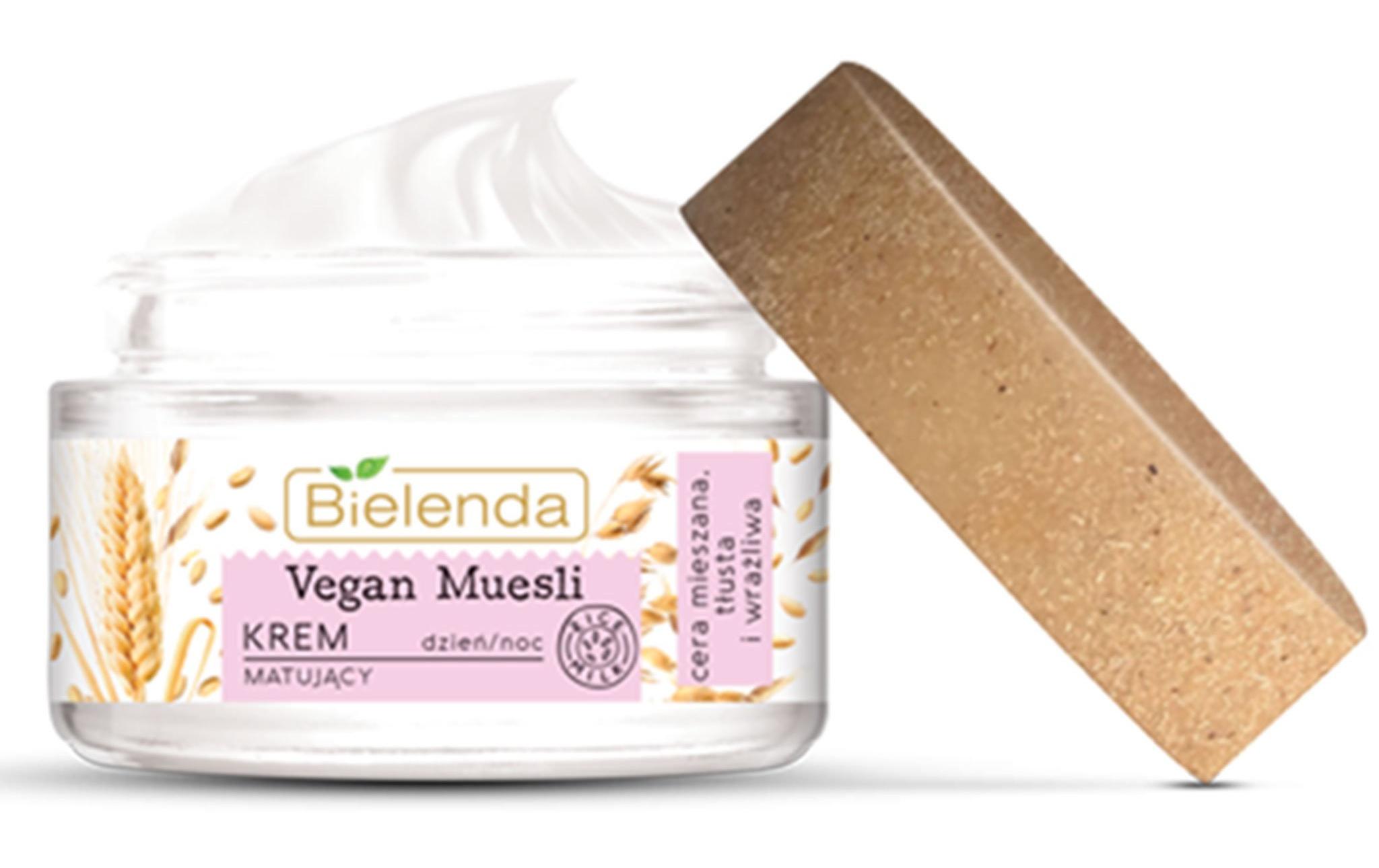 Bielenda Vegan Muesli   Oats + Wheat + Rice Milk Mattifying Cream