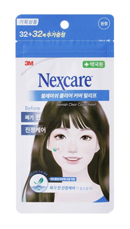3M Nexcare Blemish Clear Cover Relief Acne Patch