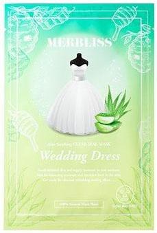 Merbliss Wedding Dress Emerald Aloe Honey Soothing Clear Seal Sheet Mask