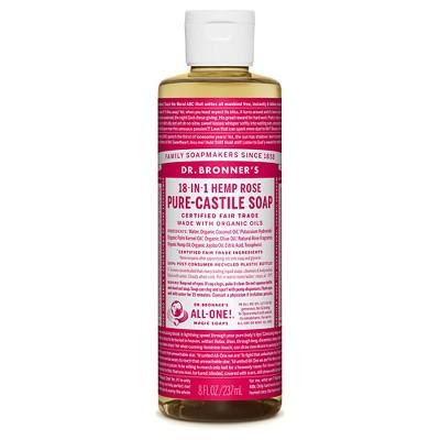 Dr Bronner Rose Pure-Castile Liquid Soap