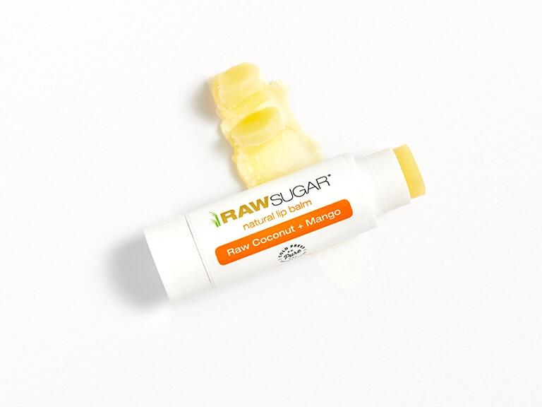 Raw Sugar Raw Coconut + Mango Lip Balm