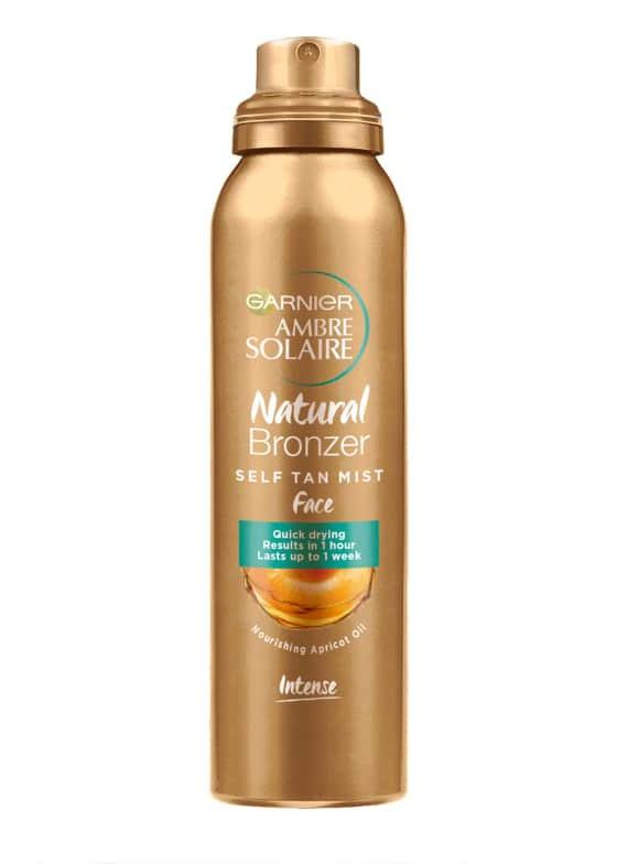 Garnier Natural Bronzer Self Tan Mist Face