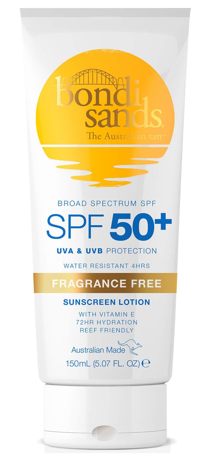 Bondi Sands Sunscreen Lotion Spf50+ - Fragrance Free