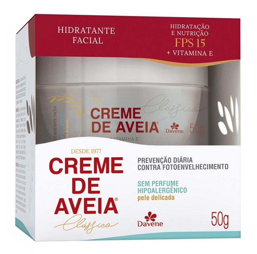 Davene Hidratante Facial com SPF 15 Hipoalergênico Creme de Aveia