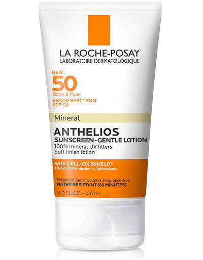 La Roche-Posay Broad Spectrum Spf 50 Mineral Sunscreen Gentle Lotion