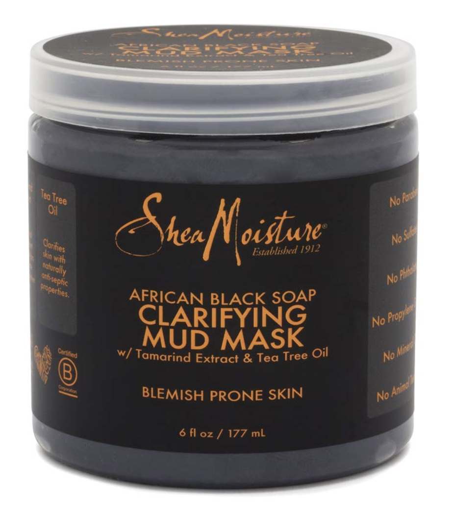 Shea Moisture African Black Soap Clarifying Mud Mask W/ Tamarind Extract & Tea Tree Oil