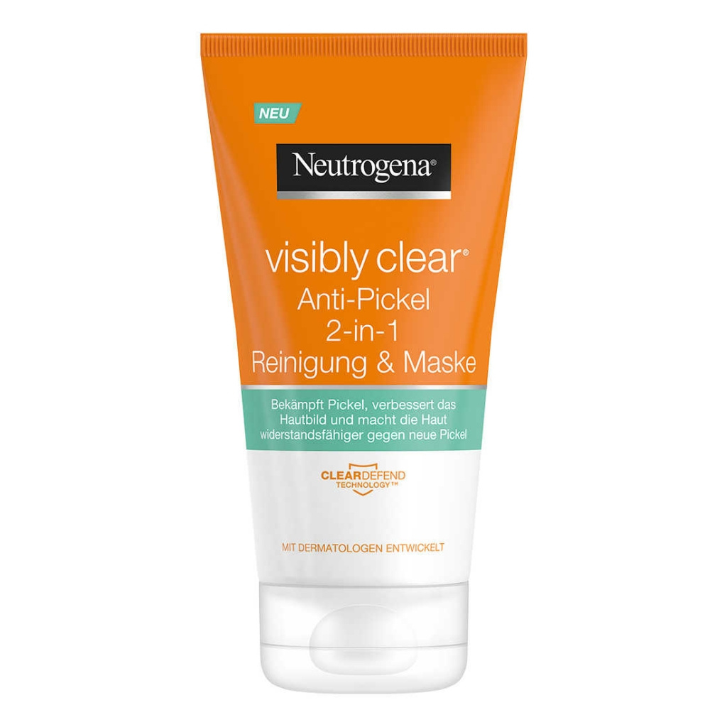 Neutrogena Visibly Clear Spot Proofing 2 In 1 Wash-Mask