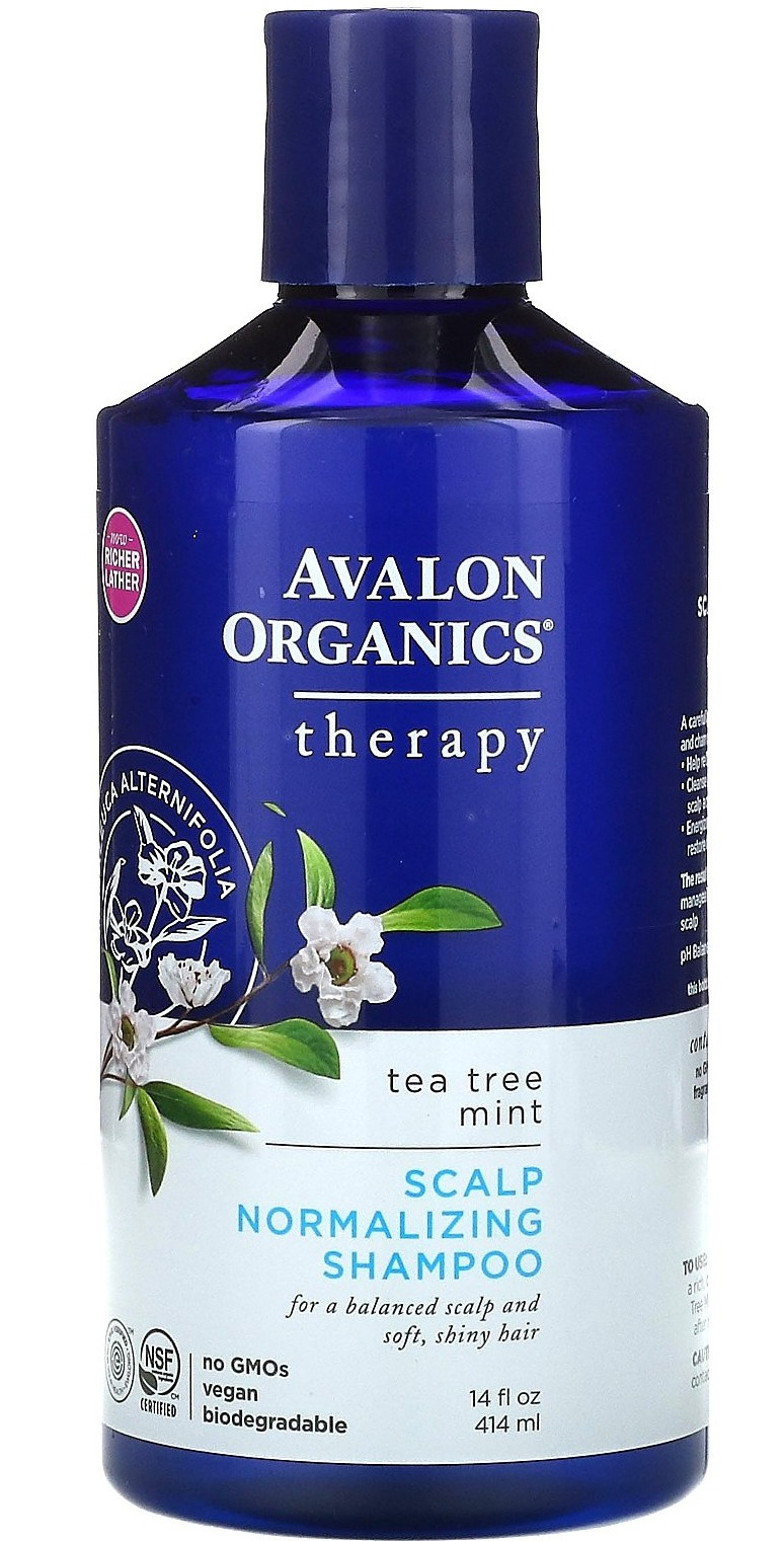 Avalon Organics Scalp Normalizing Shampoo Tea Tree Mint