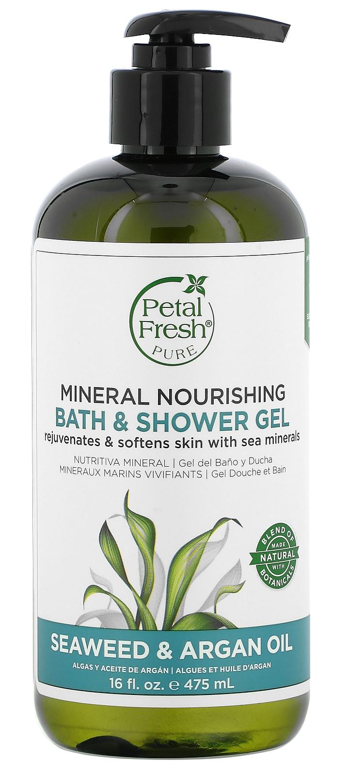 Petal Fresh Mineral Nourishing Bath & Shower Gel, Seaweed & Argan Oil
