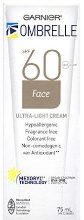 Garnier Ombrelle Face Sunscreen Ultra Light Cream Spf 60