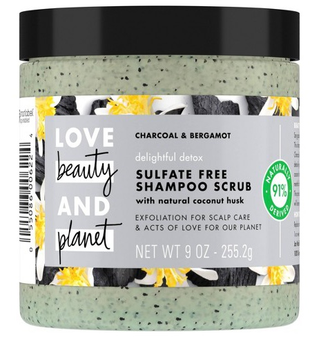 Love beauty and planet Delightful Detox Charcoal Shampoo Scrub