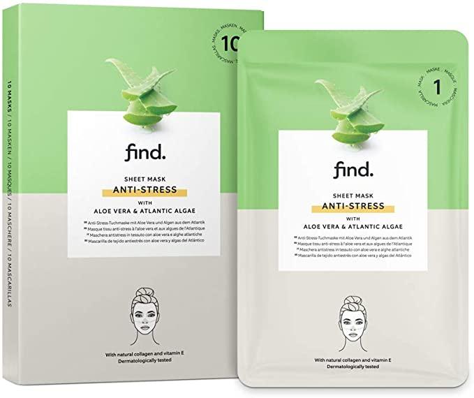 find. Sheet Mask Anti Stress with Aloe Vera and Atlantic Algae