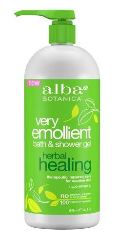 Alba Botanica Very Emollient Bath & Shower Gel, Herbal Healing