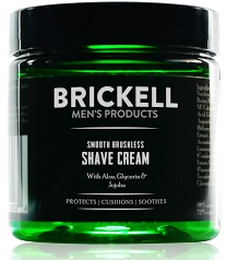 Brickell Men's Products Smooth Brushless Shave Cream For Men