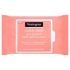 Neutrogena Visibly Clear Pink Grapefruit Facial Cleansing Wipes