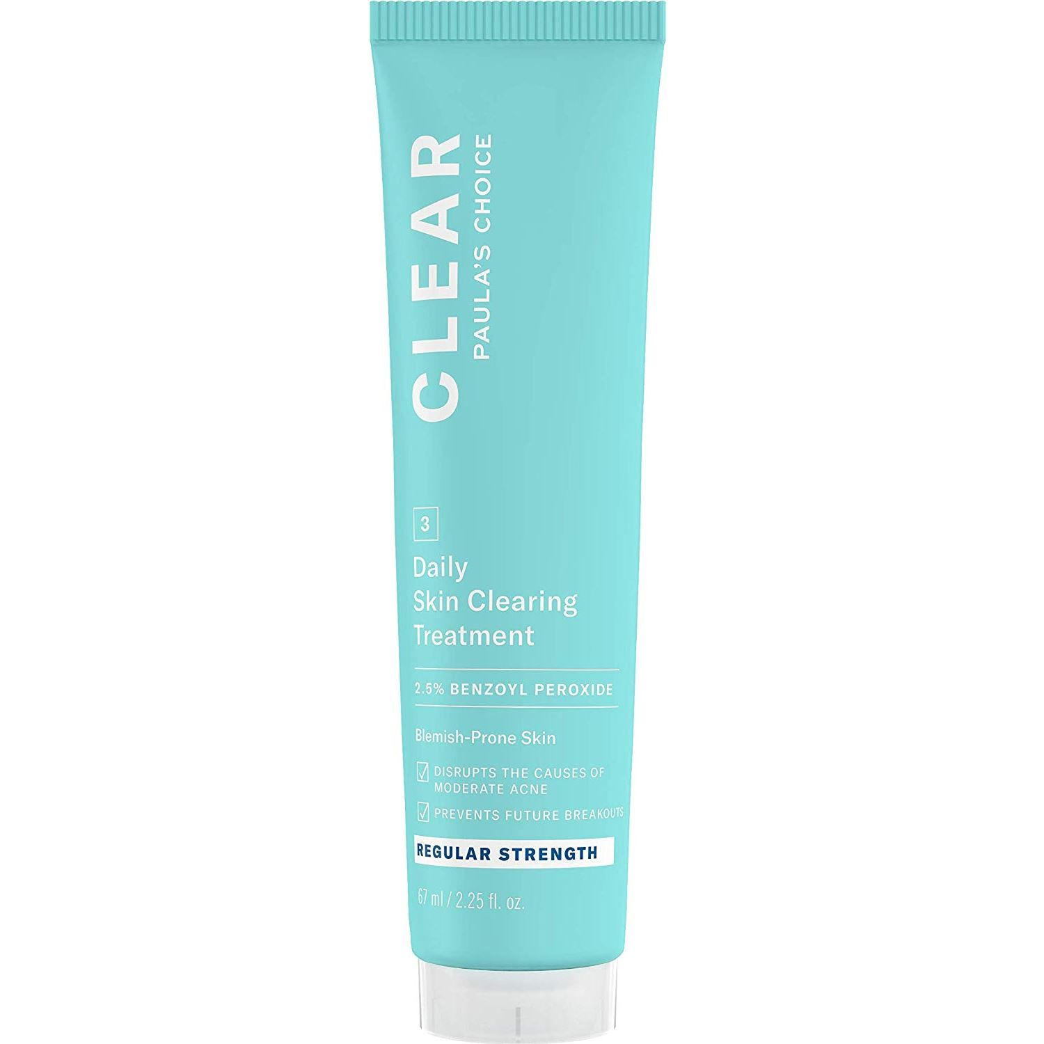 2.5% | Clear Regular Strength Daily Skin Clearing Treatment With 2.5% Benzoyl Peroxide
