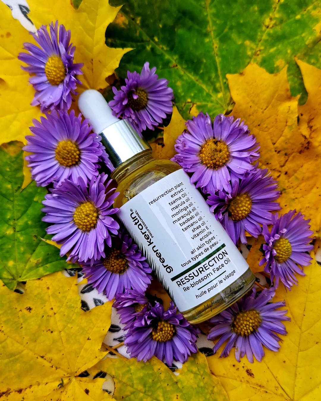 Green Keratin Resurrection Re-Blossom Face Oil
