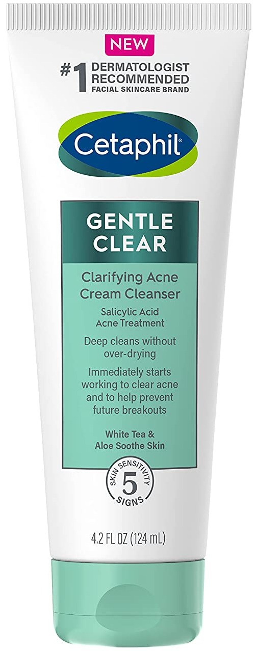 Cetaphil Gentle Clear Clarifying Acne Cream Cleanser