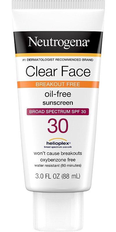 Neutrogena Clear Face Broad Spectrum Spf 30 Sunscreen