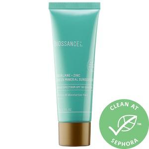 BIOSSANCE Squalane + Zinc Sheer Mineral Sunscreen Spf 30 Pa +++