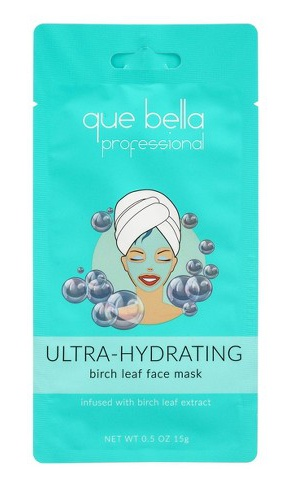 que bella Professional Ultra Hydrating Birch Leaf Water Moisture Face Mask