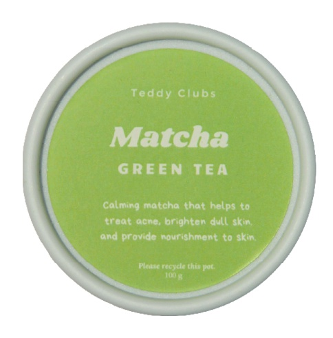 Teddy Clubs Matcha Clay Mask