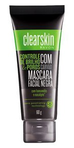 AVON Clearskin Máscara Facial Negra Com Carvão Clearskin