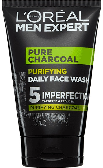 L'Oreal Men Expert Face Wash Pure Charcoal Blackhead Cleanser For Men