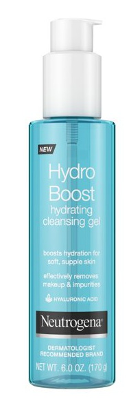 Neutrogena Hydro Boost Lightweight Hydrating Facial Cleansing Gel For Sensitive Skin, Gentle Face Wash & Makeup Remover With Hyaluronic Acid, Hypoallergenic & Non Comedogenic