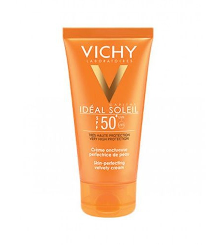 Vichy Ideal Soleil Velvety Cream Spf 50+ Skin Perfecting Action