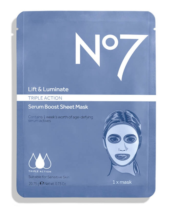 No7 Lift & Luminate Triple Action Serum Boost Sheet Masks
