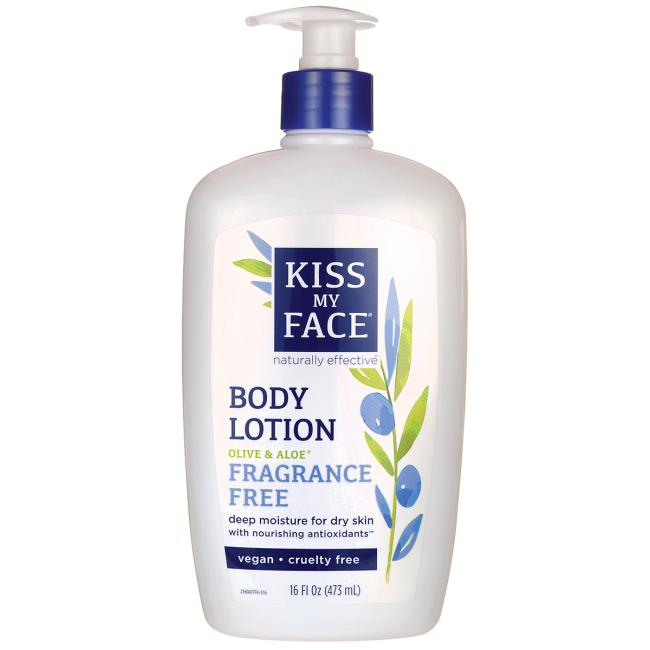 Kiss My Face Fragrance Free Olive And Aloe Body Lotion