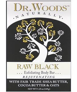 dr woods Body Bar, Raw Black