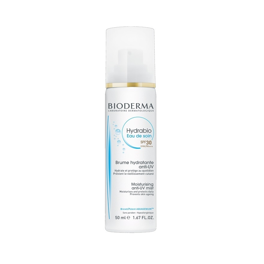 Bioderma Hydrabio 2-In-1 Moisturising Anti-Uv Mist (Eau De Soin Spf 30)