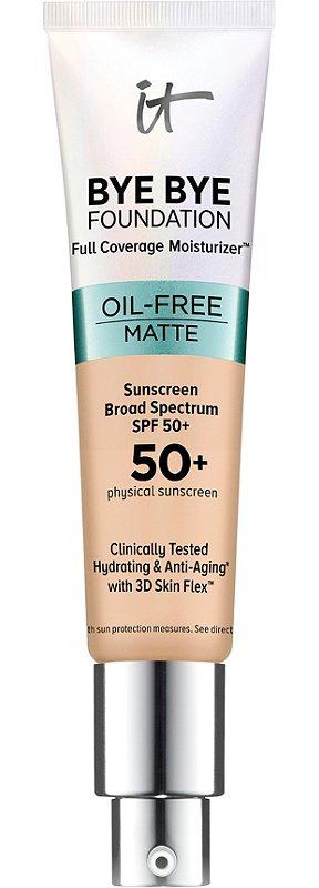 it Cosmetics Bye Bye Foundation Oil Fee Matte Full Coverage Moisturizer Spf 50+